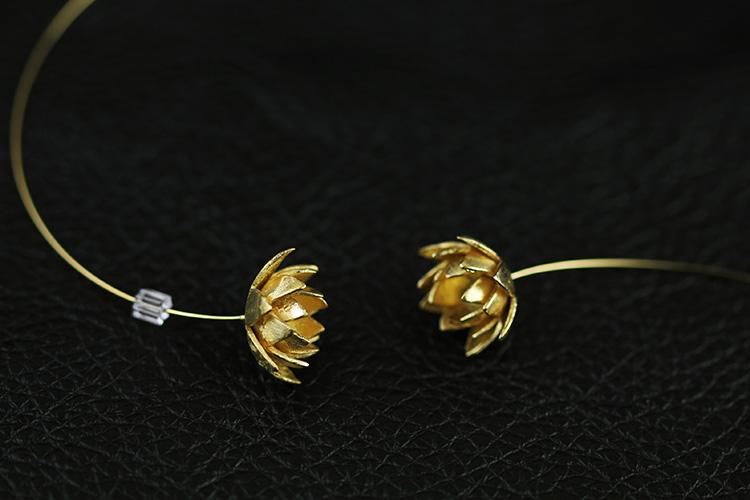 莲花耳环-深圳市物色