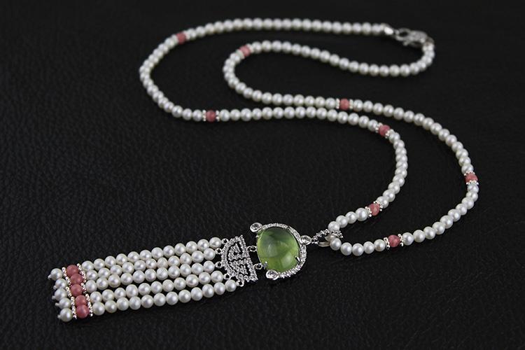 珍珠串珠项链
